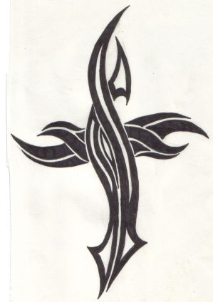Shoulder Tribal Tattoos Especially Cross Tattoo Designs