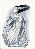 Bride of Frankenstein sketch by RichardCox