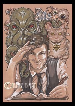 Lovecraft Writing by natamon