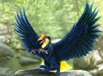 Wrinkled Hornbill Gryphon by TheDragonofDoom