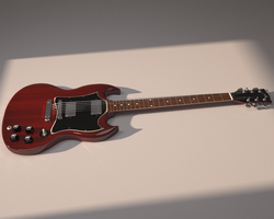 SG guitar render by JoaoYates