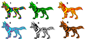 multi color wolf adopt by likeaboss-adopts