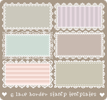 6 Free Lace Stamp Borders by Gasara