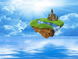 Island in the Sky 4 by mysticmorning