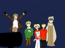Happy 2013 from APH (LATE, DON'T HATE) by rachphil