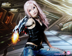 Lightning cosplay - Take that. by cyberlight