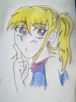 Girl Shushing by SnatchMind