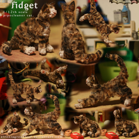 'Fidget' - 12th scale posable cat by ElreniaGreenleaf