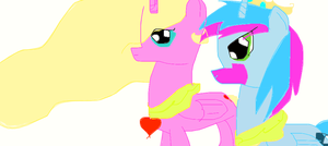 me and lightning chaser as princess by buttercup234