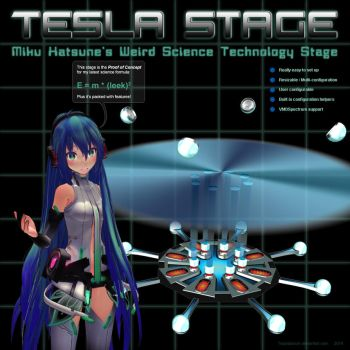 MMD Miku's Tesla Stage by Trackdancer