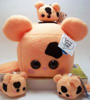 Cheetah Cheese Cube Family by quacked