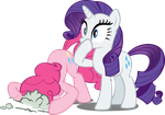 MLP: Rarity and Pinkie Pie by Ookami-95