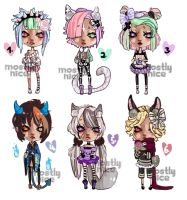 MiniChibis +FREE+ WINNERS!! by mostlyniceAdopts