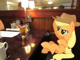 Applejack and Her Morning Juice by WayCool64