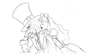 A Moment- Hatter and Alice by xssithi