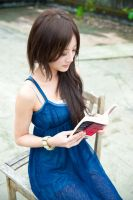 Nerd in Blue Dress - 2 by Mi-kako