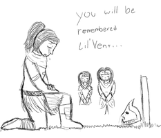 Lil' Vent's passing Q_Q by TheSilverPie