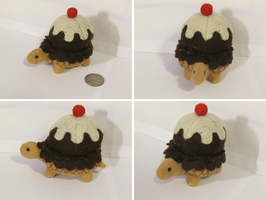 Turtle Plush: Chocolate Ice Cream by Fiomay