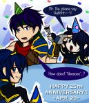 Make Him Eat Cake- Happy 25th Anniversary!! by MewKwota