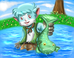 Simon caught a fish by Sweetochii