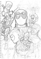 Deadpool Sketches by TruZe