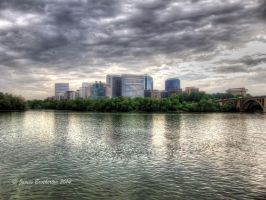 Rosslyn Metro Mall And Key Bridge by jim88bro