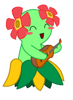 Bellossom playing the Ukulele by Polynesiangirl