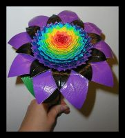 Rainbow Sunflower by DuckTapeBandit