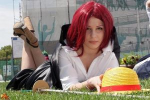 Akagami no Shanks, genderswap cosplay by Mellorineeee