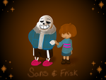 Let's go buddy:Sans and Frisk by Mad-Hattress-Ari