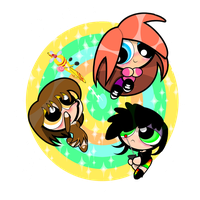 Art Trade: Bliss, Brownie, And Blint by PowerpuffBaylee