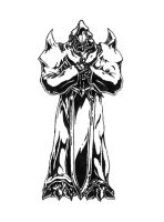 Demon knight black and white by RtotheYO