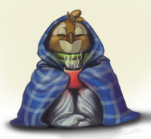 Day2:  Sick but Happy Owl by AbsoluteDream