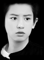 Chanyeol phone drawing by SMoran