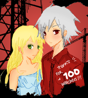 Maka and Soul THANKS FOR 100 by MaskHerAid