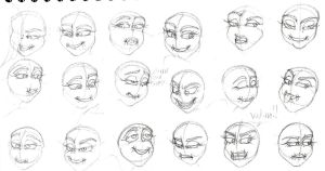 Luljeta eye and mouth practice-Two by VotrePoison