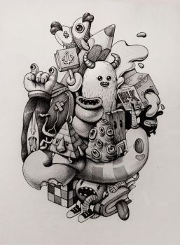 Ink doodles by room4shoes