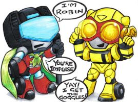 sirens and bumblebee by prisonsuit-rabbitman