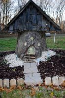 Gnome Fairy Faery House by FairieGoodMother