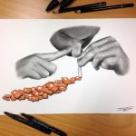 Addiction Pencil Drawing by AtomiccircuS