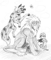 KH -Pridelands- Grayscale by ArpegiusWolf