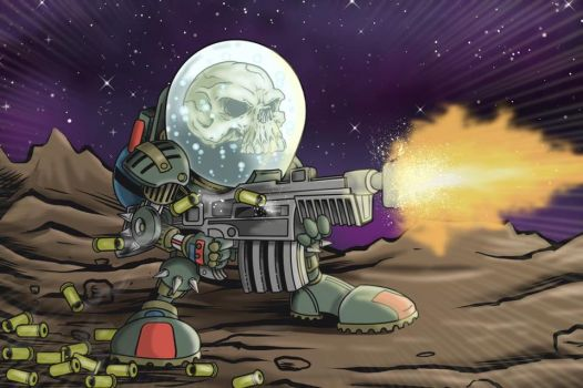 Space Skull by thedavemyers