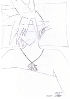 Cloud Strife -SLEEP- LineArt by digialchem