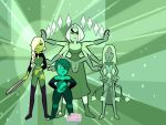 Green Gem Team [Tentative, Steven Universe OCs] by MakotoNeptunus