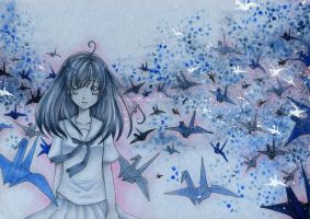 .: Paper-Cranes :. by chronosIV