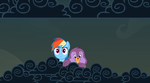 Rainbow Dash, and Cozy Heart. by Flutterflyraptor