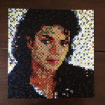 Michael Jackson in beads by MaryJaneee