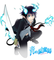 Ao no Exorcist: Rin Okumura by Kanokawa