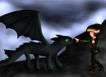 -GSW- Hiccup and Toothless by xXMilchwomanXx