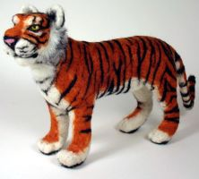 Needle felted Tiger by mysticalis